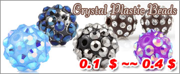 Crystal Plastic Beads