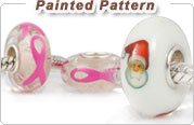 Painted Pattern European Glass Beads
