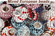 lot mixed European beads