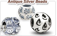 925 antique silver European beads