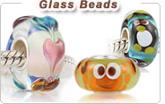 Charm glass European beads