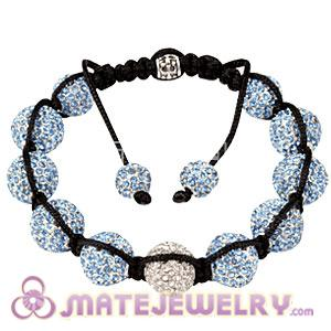 Sambarla Style Blue Disco Ball Bead Fashion Alloy Crystal Bracelets