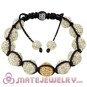 Sambarla Style Ivory Disco Ball Bead Fashion Alloy Crystal Bracelets