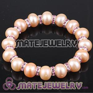 Wholesale 10mm Natural Freshwater Pearl Basketball Wives Bracelets
