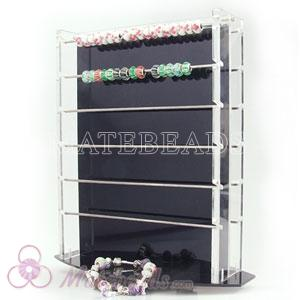 European bead display rack, lampwork bead display fit European jewelry