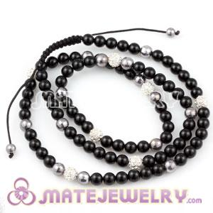 Wholesale Fashion Sambarla Jewelry Necklaces Black and Crystal Ball Beads