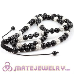Fashion Sambarla Style Necklace Wholesale Black and Crystal Ball Beads