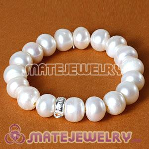Wholesale Natural Freshwater Pearl Sterling Silver Stackable Charms Bracelets