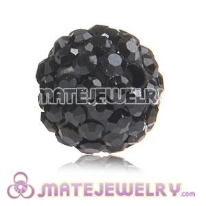 Wholesale Cheap Price 10mm Black Handmade Pave Crystal Beads