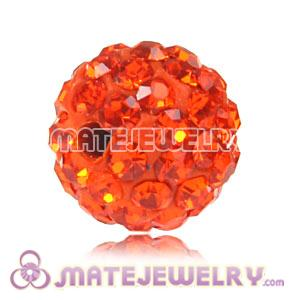 Wholesale Cheap Price 10mm Orange Handmade Pave Crystal Beads