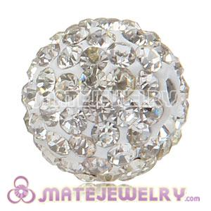 Wholesale Cheap Price 12mm Handmade Pave White Crystal Beads