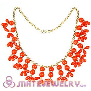 2012 New Fashion Orange Bubble Bib Statement Necklace