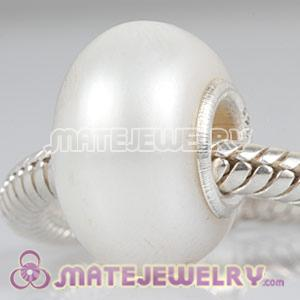 Nature White Freshwater Pearl Beads fit European Bracelet