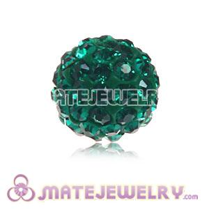Wholesale Cheap Price 8mm Green Handmade Pave Crystal Beads