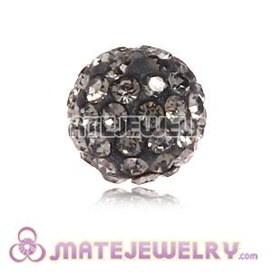 Wholesale Cheap Price 8mm Grey Handmade Micro Pave Crystal Beads