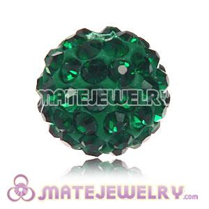 Wholesale Cheap Price 10mm Green Handmade Pave Crystal Beads