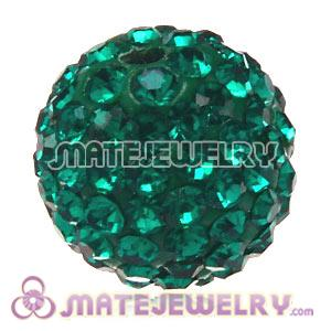 Wholesale Cheap Price 12mm Handmade Pave Green Crystal Beads