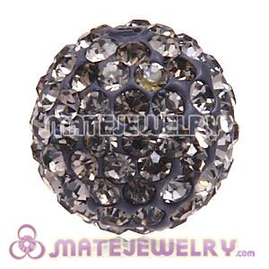 Wholesale Cheap Price 12mm Handmade Pave Grey Crystal Beads