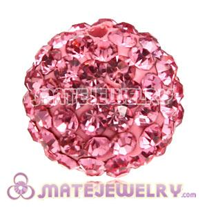 Wholesale Cheap Price 12mm Handmade Pave Pink Crystal Beads
