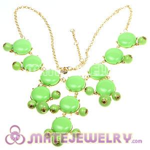2012 New Fashion Olivine Bubble Bib Statement Necklace