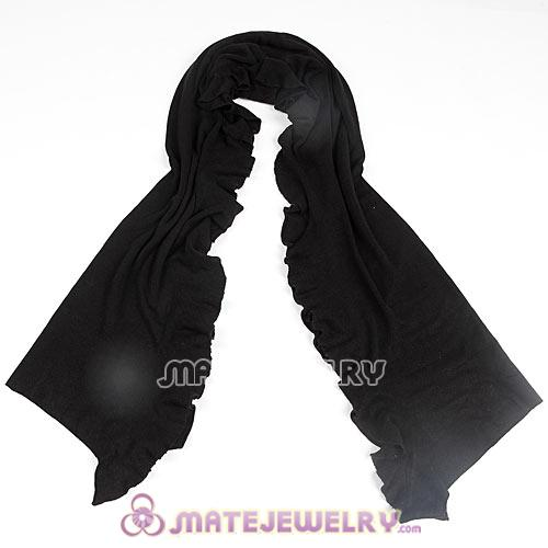 Infinity Rural Pastoral Style Knitting Cashmere Pashmina Shawl Scarf Wrap Stole Black