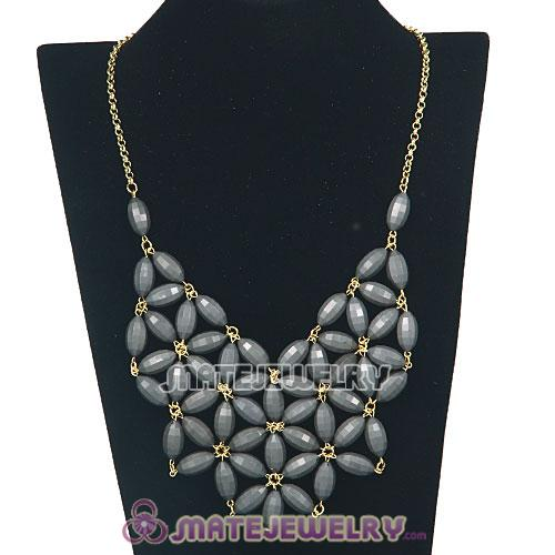 2012 New Fashion Grey Bubble Bib Statement Necklace