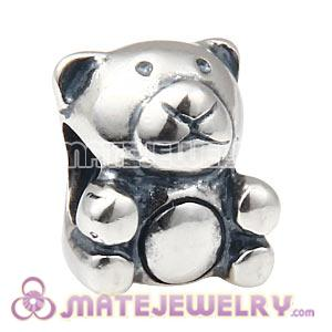 Wholesale 925 Sterling Silver Teddy Bear Charm Beads