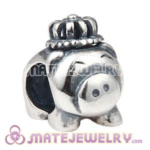 Wholesale 925 Sterling Silver Pig Charm Beads