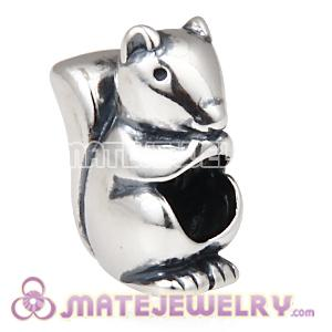 Wholesale 925 Sterling Silver European Squirrel Charms Bead