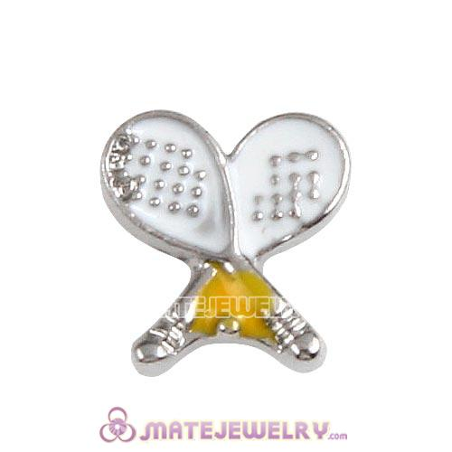 Platinum Plated Alloy Enamel Tennis Floating Locket Charms