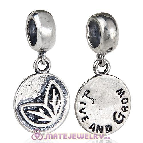 European Style Sterling Silver Beads Dangle Live and Grow Charm