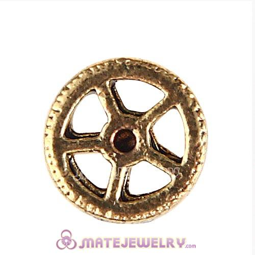 Gold Plated Alloy Small watch gear Floating Locket Charms