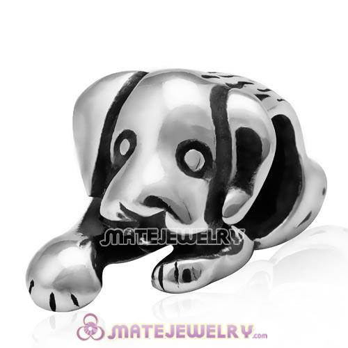 European Style Antique Sterling Silver Puppy Dog Charm Beads Wholesale