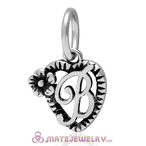 925 Sterling Silver Clear CZ Letter N Pendant Alphabet Dangle Charm Lobster Clasp Fashion