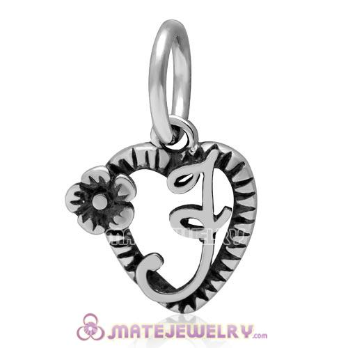 Sterling Silver Reflections Letter N Bead