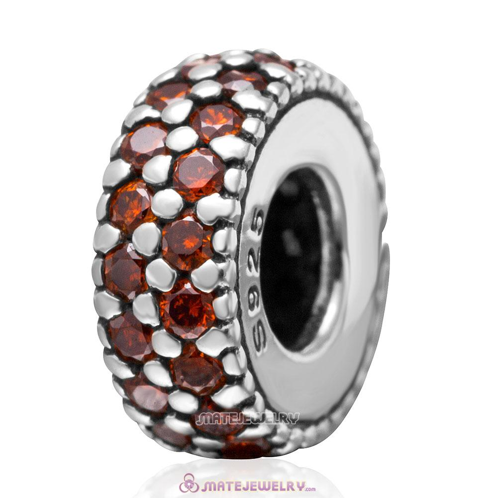 Inspiration Within with Topaz CZ Spacer Bead 925 Sterling Silver