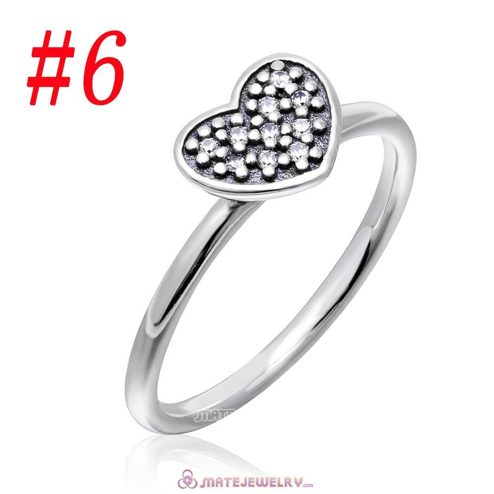 Sparkling Love Ring Sterling Silver with Clear CZ