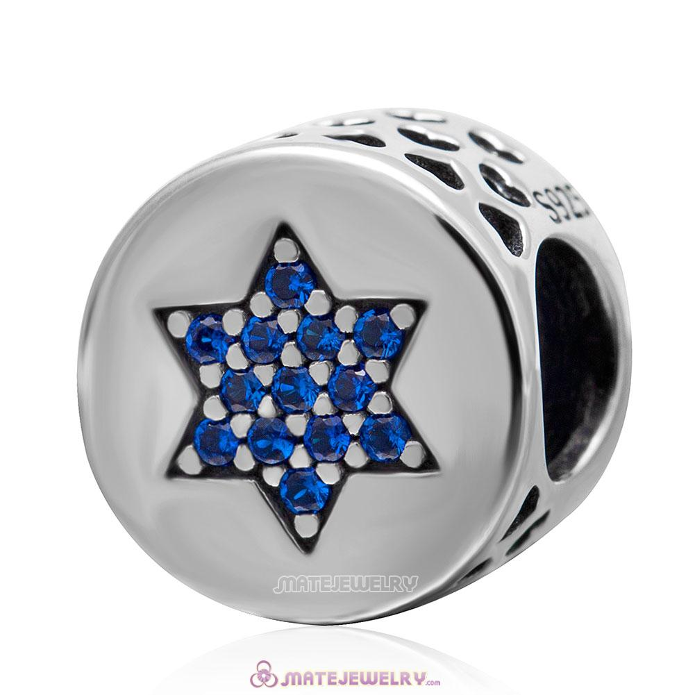 Lucky Star with Blue CZ Charm