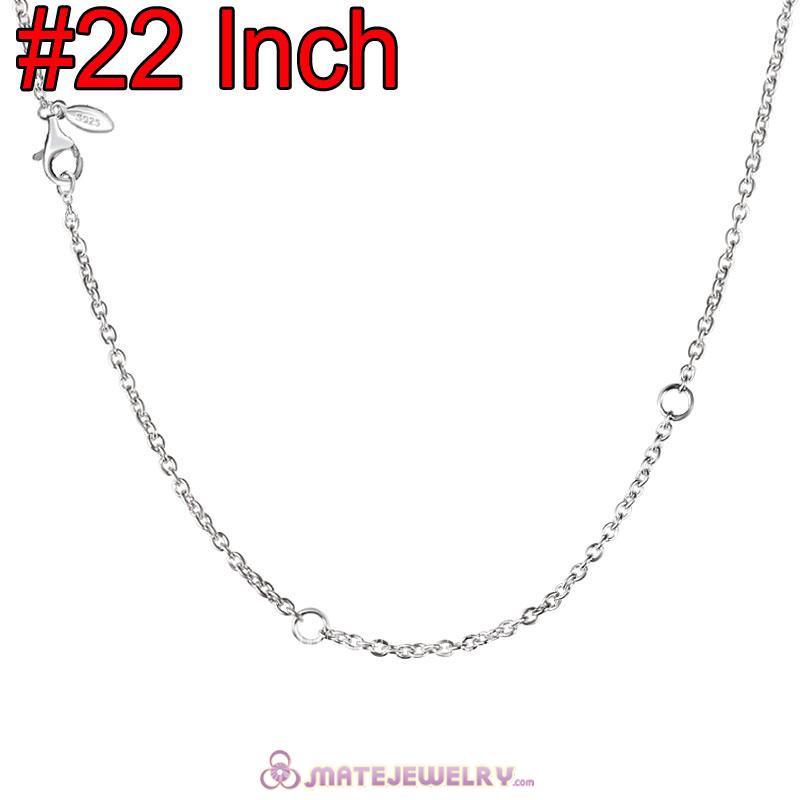 Wholesale Platinum Plating Fashion Basic Necklace with Lobster Clasp