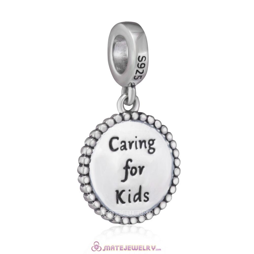 925 Sterling Silver Caring for Kids Rose Charms Beads