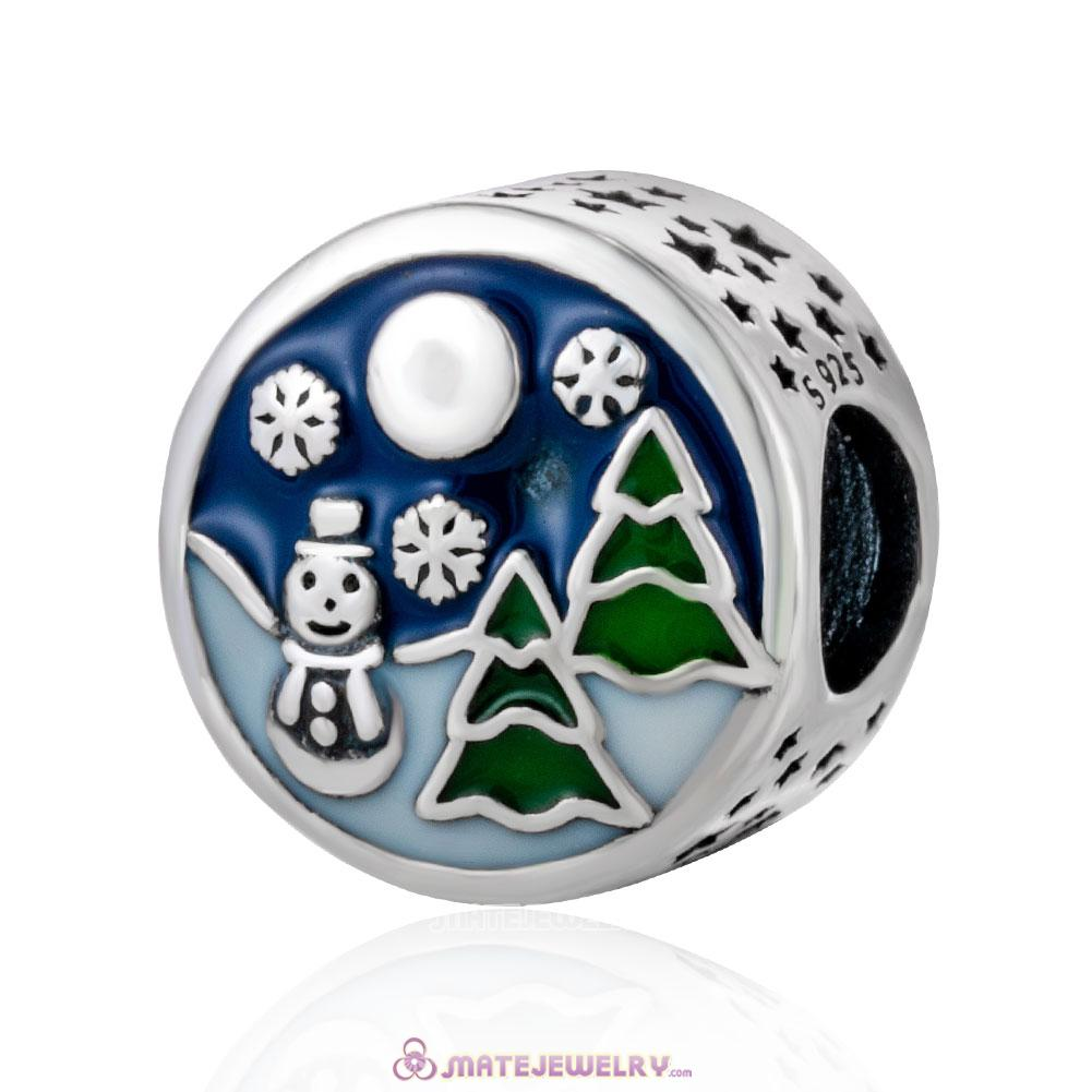 Christmas Snowman Tree with Mix Enamel Charm