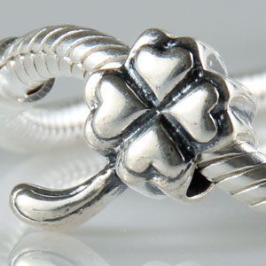 pandora style sterling silver 4 petal charm beads