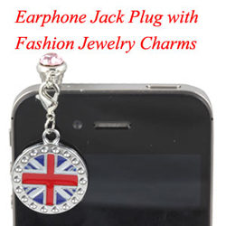Earphone Jack Plug With Charms Jewelry