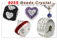 Sterling Silver Austrian Crystal Charm Beads