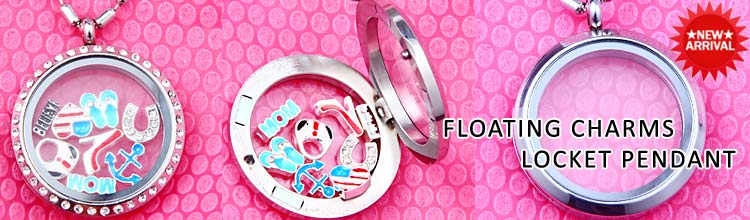 floating lockets pendant